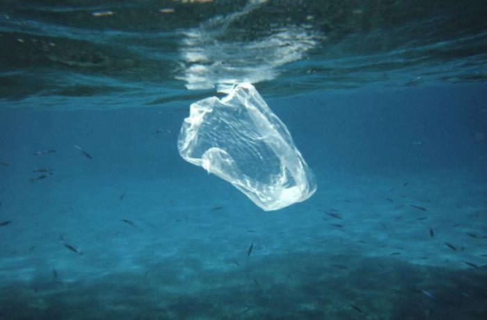 mare inquinato dalla plastica